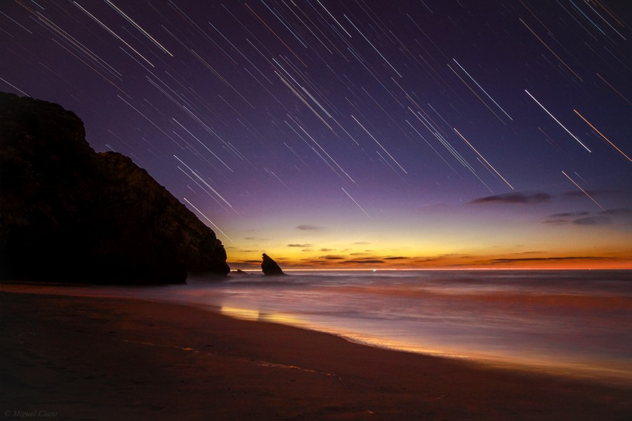 Startrail in the Sunset
