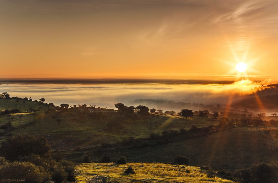 Sunrise from Monsaraz Village, Portugal.