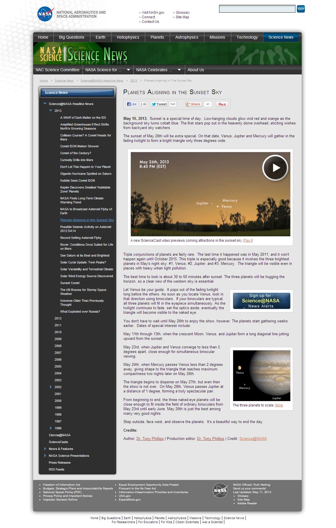 NASA-ScienceCastNews-SunsetTriangle
