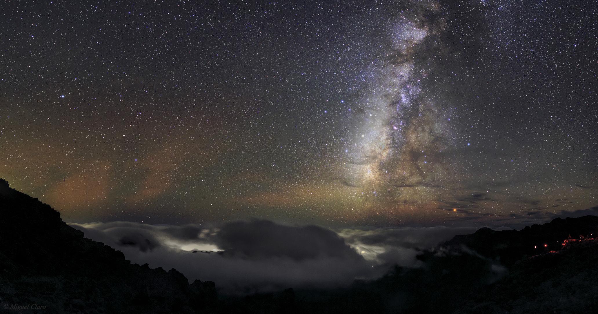 Milky Way Above Caldera De Taburiente Astrophotography