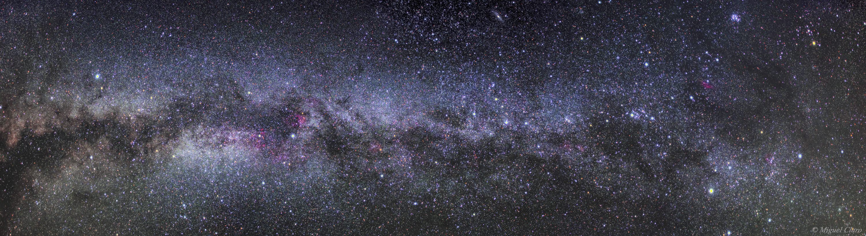 Deep sky wide field view of Milky Way galaxy from La Palma by Miguel Claro - AstroMaster La Palma 2013
