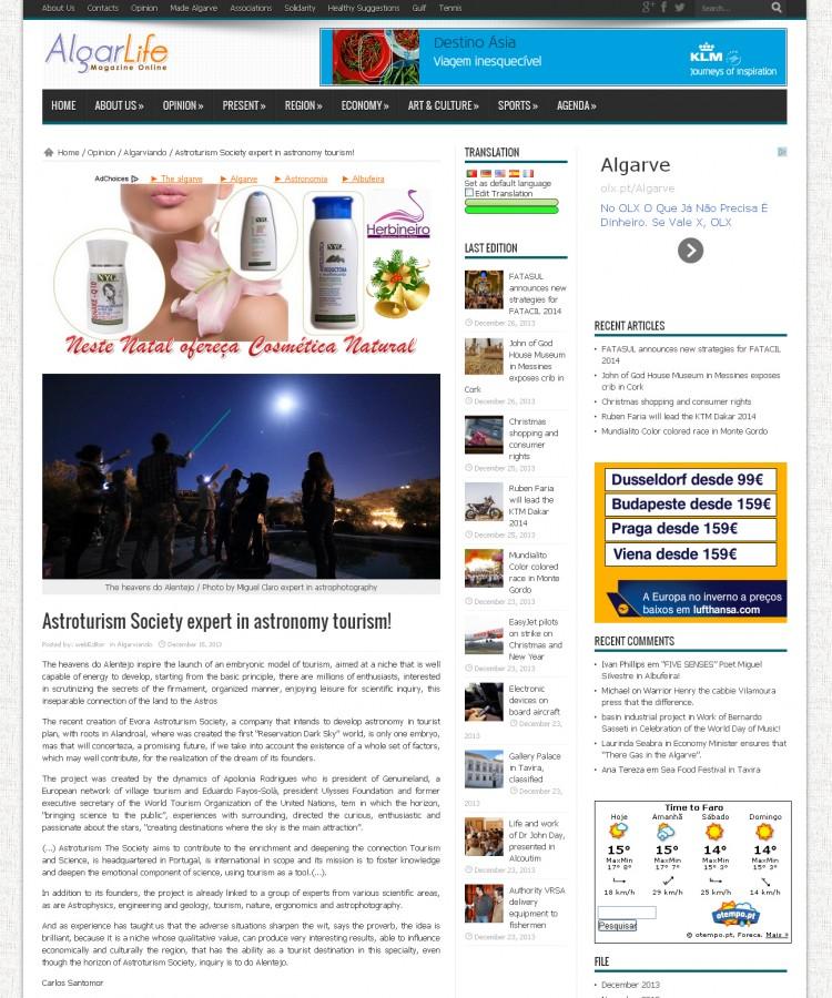 AlgarLife-AstroturismNews-15-12-2013
