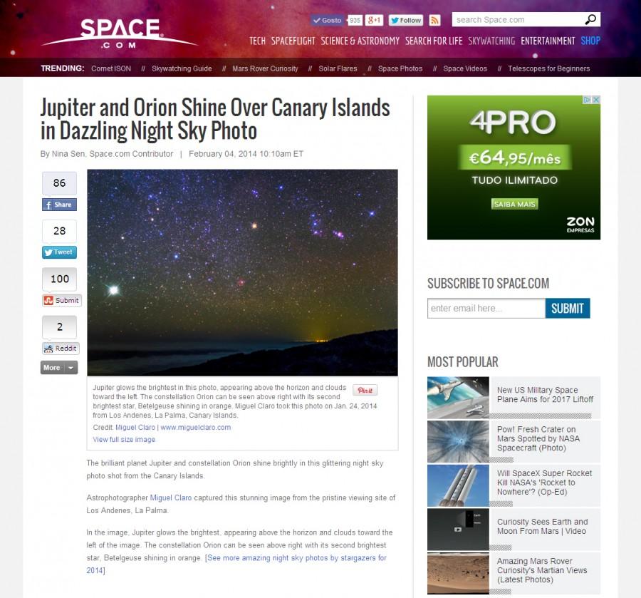 SpaceCom-JupiterandOrionCanaryIsland-04-02-2014