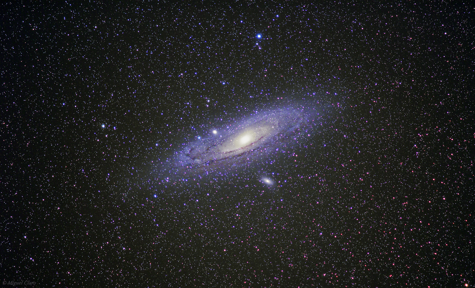 Andromeda Galaxy M31 with a Vixen Polarie ...