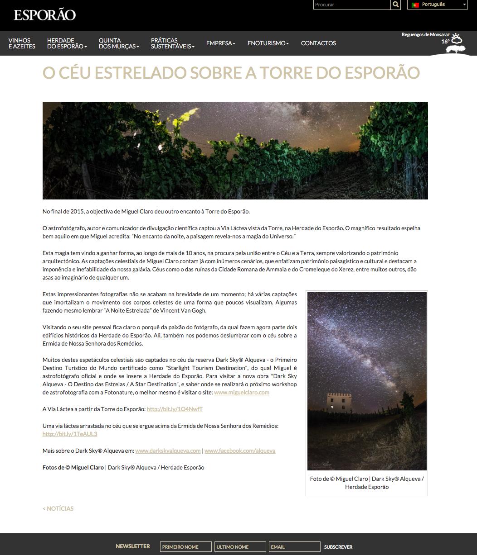 Noticia Esporao