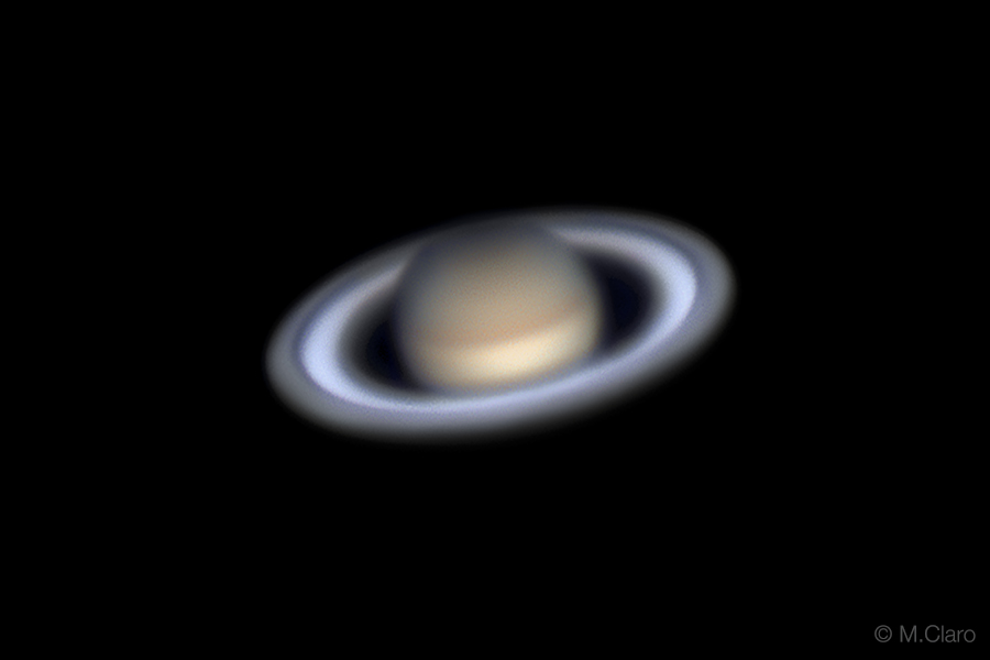 planet saturn the lord of the rings astrophotography by miguel