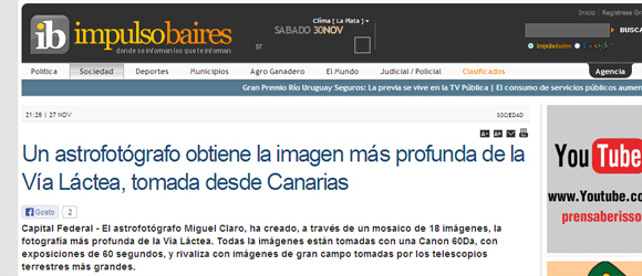 """Online News in Spain """" ib – impulso baires"""" – Article"""